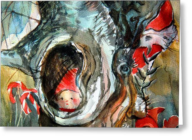 Bah Humbug Tree Greeting Card by Mindy Newman