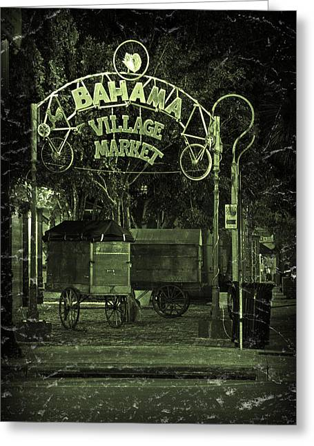 Night Scenes Greeting Cards - Bahama Village Market Key West Florida Greeting Card by John Stephens