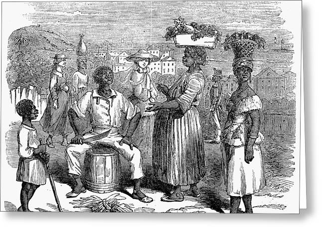 Machete Greeting Cards - Bahamas: Market, 1856 Greeting Card by Granger