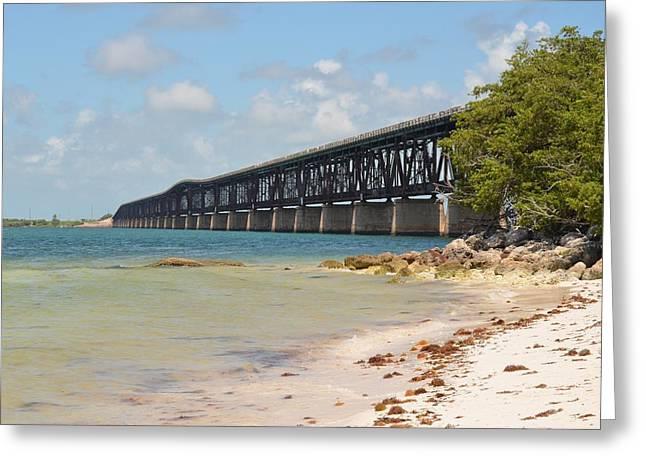 Bahia Honda State Park Greeting Cards - Bahia Honda Bridge Greeting Card by Tiffney Heaning