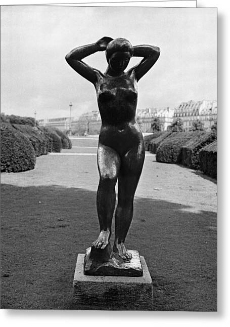 Baigneuses Greeting Cards - Baigneuse de Maillol Greeting Card by Hans Mauli