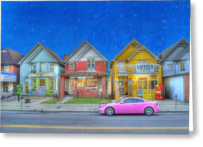 Manipulated Greeting Cards - Bail Bond Boulevard Greeting Card by Juli Scalzi