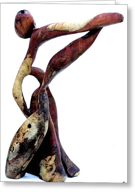 Wood Sculptures Greeting Cards - Bailando 3 Greeting Card by Jorge Berlato