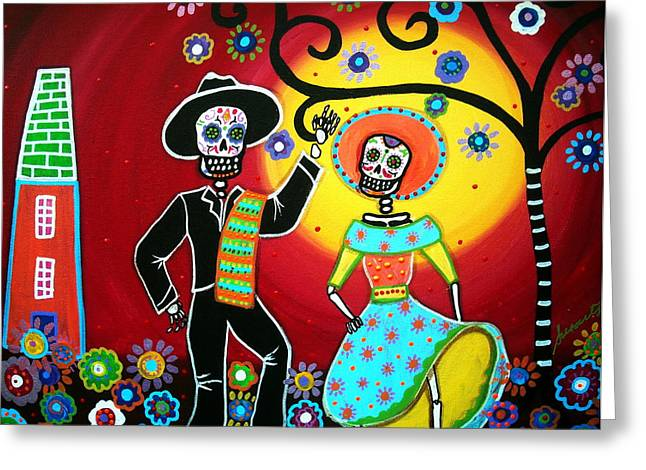 Mexican Fiesta Greeting Cards - Bailar Greeting Card by Pristine Cartera Turkus