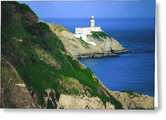 Collection Of Rocks Greeting Cards - Baily Lighthouse, Howth, Co Dublin Greeting Card by The Irish Image Collection