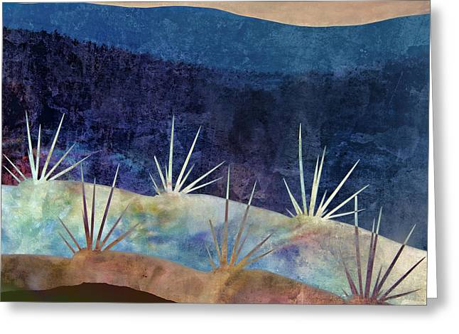 Black Gold Greeting Cards - Baja Landscape Number 2 Greeting Card by Carol Leigh
