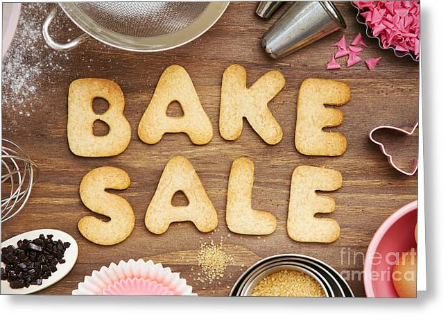 Fundraiser Greeting Cards - Bake sale cookies Greeting Card by Ruth Black