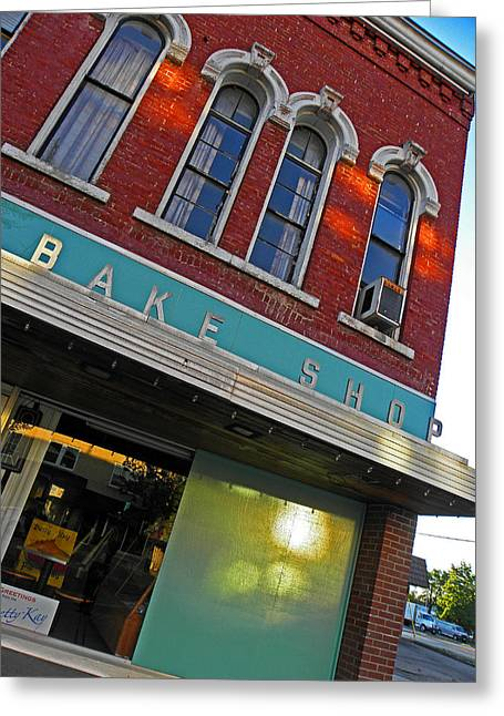 Small Town Usa Greeting Cards - Bake Shop Greeting Card by Elizabeth Hoskinson