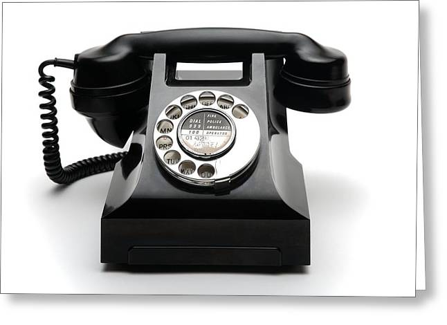 Handset Greeting Cards - Bakelite Telephone Greeting Card by Victor De Schwanberg