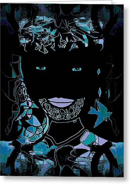 Bal Masque Greeting Card by Natalie Holland