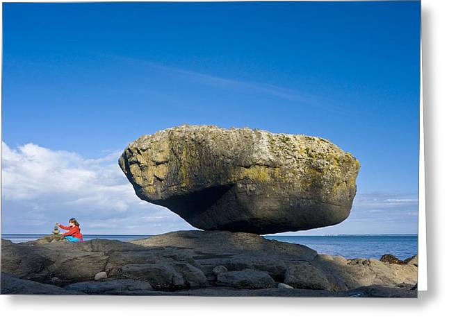 Charlotte Greeting Cards - Balance Rock, British Columbia Greeting Card by David Nunuk