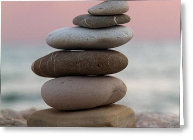 balance Greeting Card by Stylianos Kleanthous