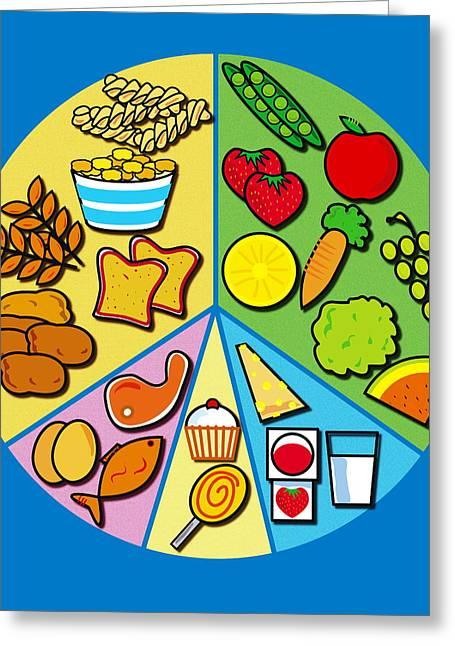 Watermelon Greeting Cards - Balanced Diet Greeting Card by David Nicholls