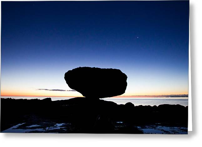 Charlotte Greeting Cards - Balancing Rock Sunrise Greeting Card by Brandon Broderick