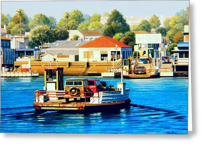 Newport Greeting Cards - Balboa Island Ferry Greeting Card by Frank Dalton