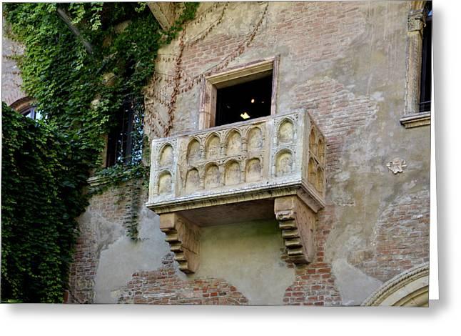 Balcone Di Romeo E Giulietta Greeting Card by Martina Fagan