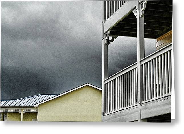 Cayman Houses Greeting Cards - Balcony Greeting Card by Al Perry