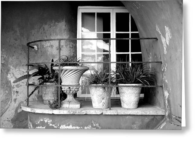 Roberto Alamino Greeting Cards - Balcony Greeting Card by Roberto Alamino