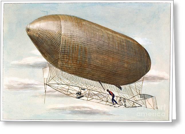 Louisiana Purchase Greeting Cards - Baldwins Airship, 1904 Greeting Card by Granger