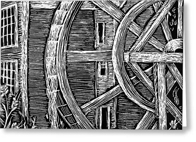 Bale Grist Mill Greeting Card by Valera Ainsworth