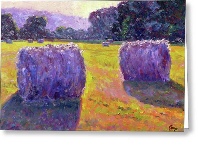 Bales Paintings Greeting Cards - Bales of Hay Greeting Card by Michael Camp
