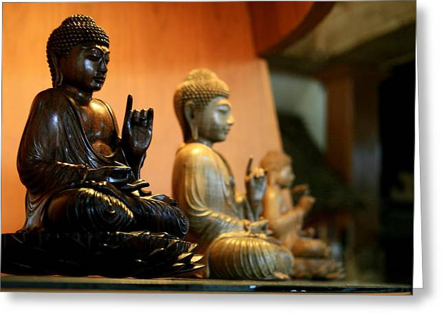 Asia Sculptures Greeting Cards - Bali Buddhas Greeting Card by Unknown