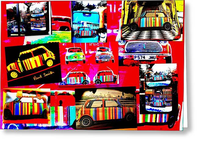 Fashion Designer Abstract Art Greeting Cards - Bali Paul Smith fake Minis Greeting Card by Funkpix Photo Hunter