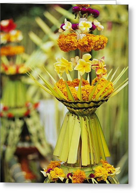 Asian Influence Greeting Cards - Balinese Ceremony Greeting Card by Dana Edmunds - Printscapes