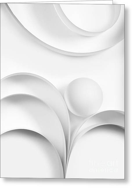 Geometrical Greeting Cards - Ball and Curves 02 Greeting Card by Nailia Schwarz