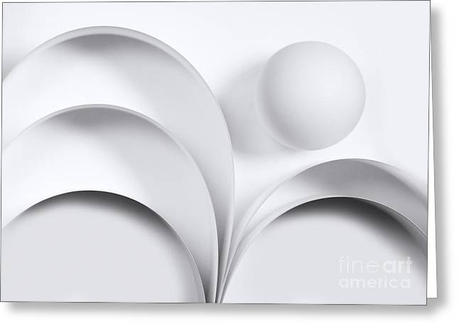 Geometrical Greeting Cards - Ball and Curves 05 Greeting Card by Nailia Schwarz