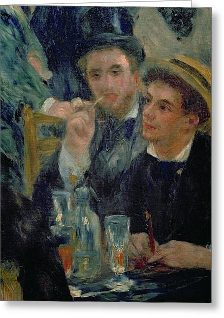 Two Men Greeting Cards - Ball at the Moulin de la Galette Greeting Card by Pierre Auguste Renoir