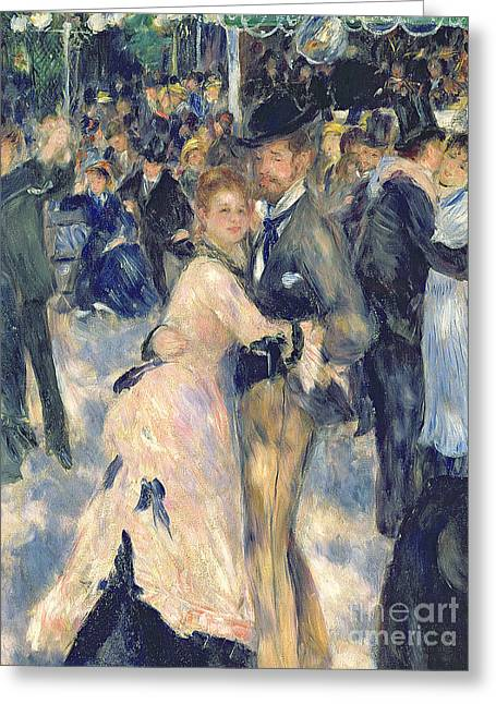 Having Fun Greeting Cards - Ball at the Moulin de la Galette Greeting Card by Pierre Auguste Renoir