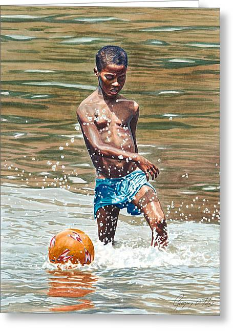 Etc. Paintings Greeting Cards - Ball Game Greeting Card by Gregory Jules