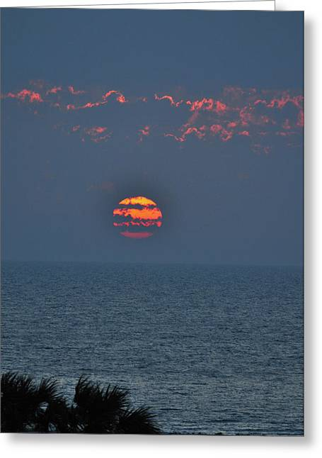 Sand Key Greeting Cards - Ball of Fire vertical Greeting Card by Peter  McIntosh