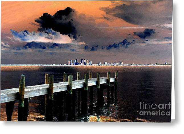 Thunderstorm Digital Art Greeting Cards - Ballast Point Greeting Card by David Lee Thompson
