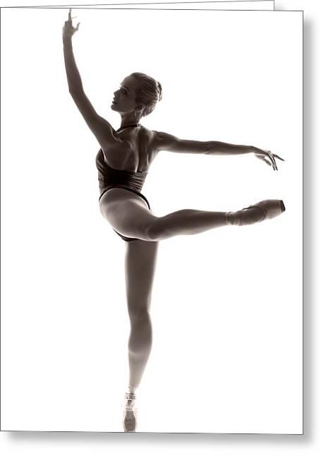 Ballerinas Greeting Cards - Ballerina grace Greeting Card by Steve Williams