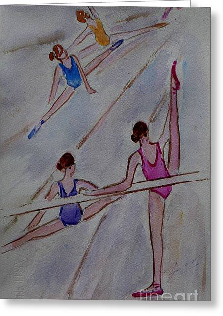 Art For The Dancer Greeting Cards - Ballerina Studio Greeting Card by Xueling Zou