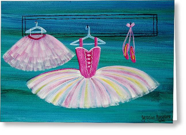 Pink Tutu Skirt Greeting Cards - Ballet Apparel 4533 Greeting Card by Jessie Meier