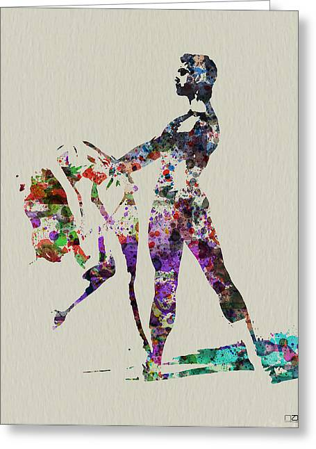 Couple Greeting Cards - Ballet Dance Greeting Card by Naxart Studio