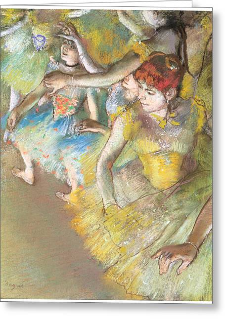 Ballet Dancers Greeting Cards - Ballet Dancers on the Stage Greeting Card by Edgar Degas