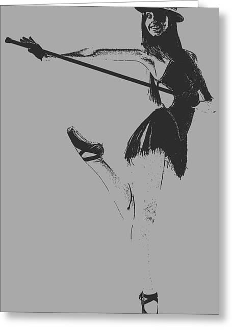 Portrait Digital Greeting Cards - Ballet girl Greeting Card by Naxart Studio