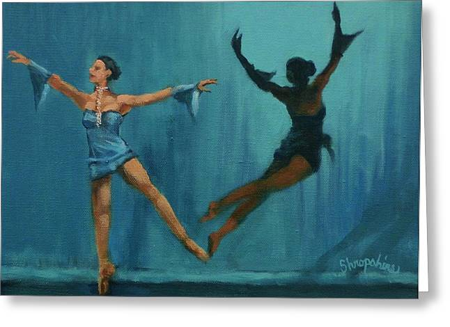 Ballet Dancers Paintings Greeting Cards - Ballet Leap Greeting Card by Tom Shropshire