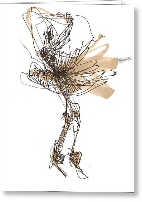 Dancer Greeting Cards - Ballet Nuances Or Cinderella Greeting Card by Lousine Hogtanian
