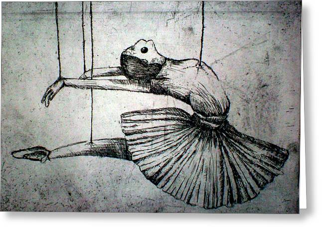 Ballet Reliefs Greeting Cards - Ballet Greeting Card by Rocio Chacon
