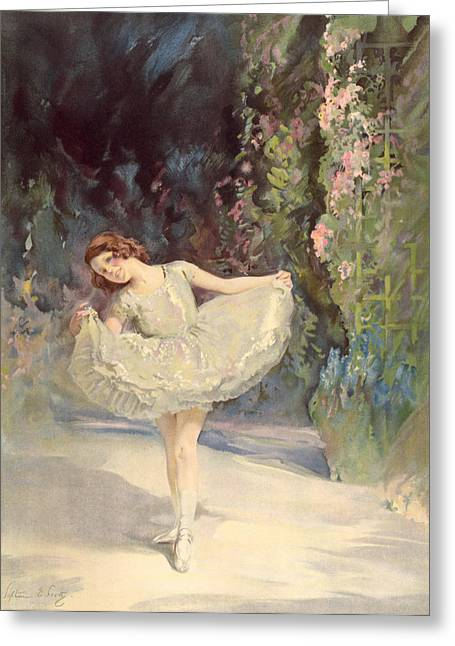 Best Sellers -  - Youthful Greeting Cards - Ballet Greeting Card by Septimus Edwin Scott