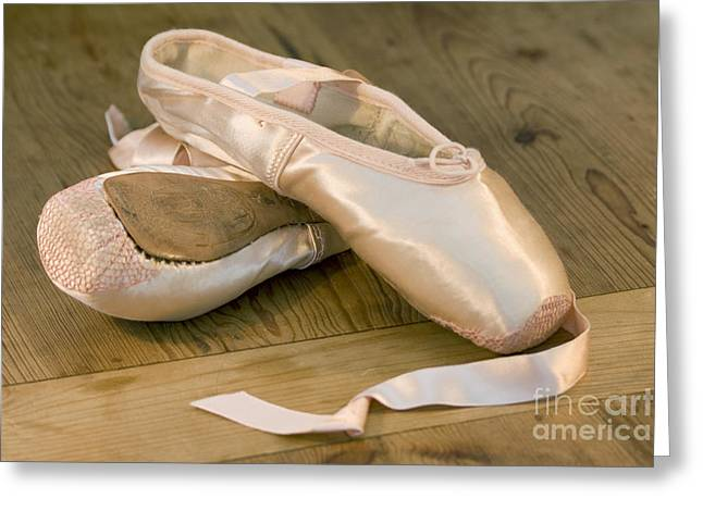 New Stage Greeting Cards - Ballet shoes Greeting Card by Jane Rix