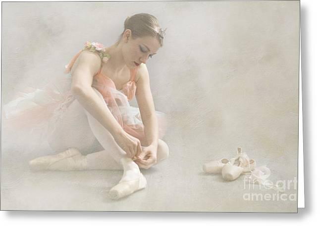 Tutu Digital Art Greeting Cards - Ballet Slippers D003986-b Greeting Card by Daniel Dempster