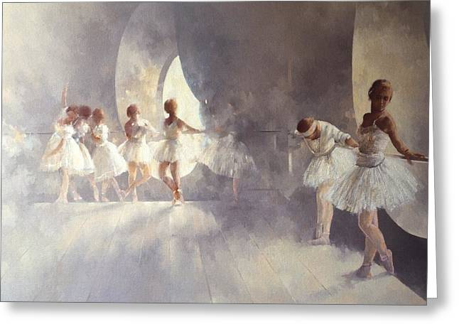 Dancing Girl Greeting Cards - Ballet Studio  Greeting Card by Peter Miller