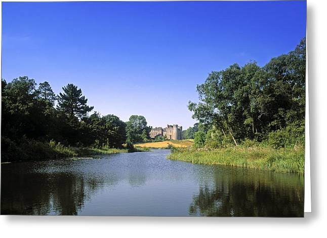 Garden Statuary Greeting Cards - Ballinlough Castle, Clonmellon, Co Greeting Card by The Irish Image Collection