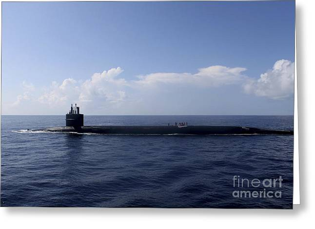 Emergence Greeting Cards - Ballistic Missile Submarine Uss Rhode Greeting Card by Stocktrek Images